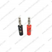 Conector tipo Banana Macho 4mm ( 2 unids. )