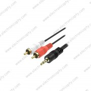 Cable RCA 1 a 2 (Plug 3.5mm a 2 RCA) 1.5M