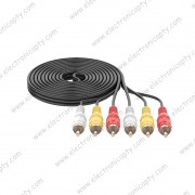 Cable RCA 3 a 3 (Plug 3.5mm a 3 RCA) 1.5M