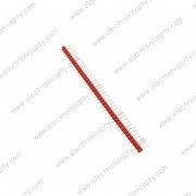 40 Pin Macho (Male Header)  a 2.54mm Rojo para Placa