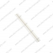 40 Pin Macho (Male Header) a 2.54mm Blanco para Placa