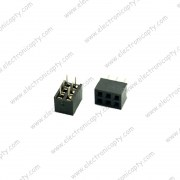Conector Hembra de 6 pin Dobles (Socket Header 6 pin)